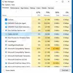 Ave Maria trojan in Windows Task Manager - Firefox (sample 1)