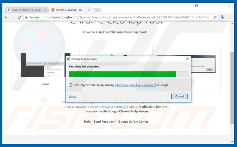 make your google chrome faster with chrome cleanup tool step 1