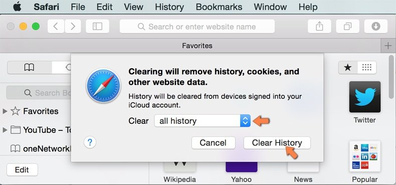 Come rimuovere browser hijacker da Safari 6