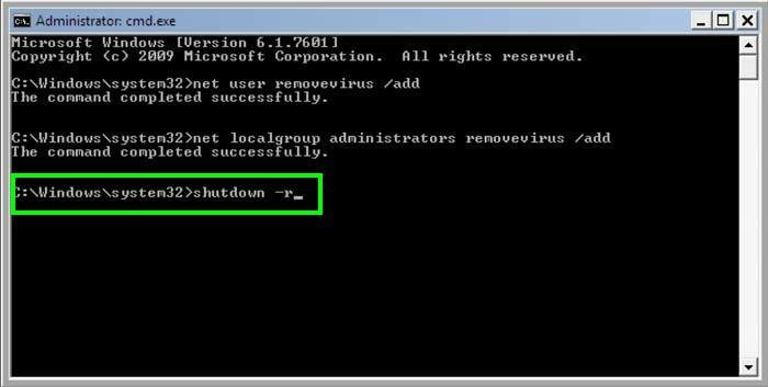 adding a new user in command prompt