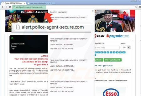 Browser locker ransomware mentre usa cloudflare alert police agent secure