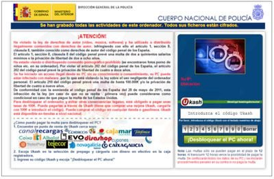 Spain browser blocked