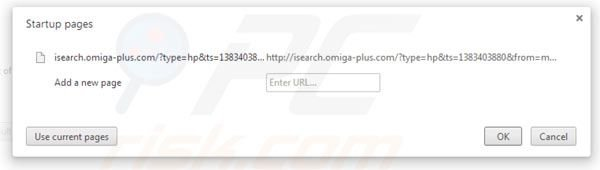 Removing Omiga plus from Google Chrome homepage