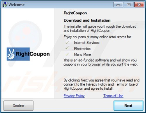 Right coupon installer