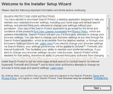 Search Protect by Conduit installer