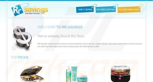 RR Savings toolbar