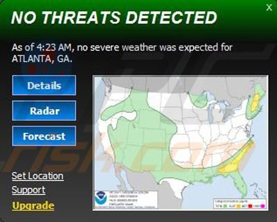 Severe Weather Alets desktop widget