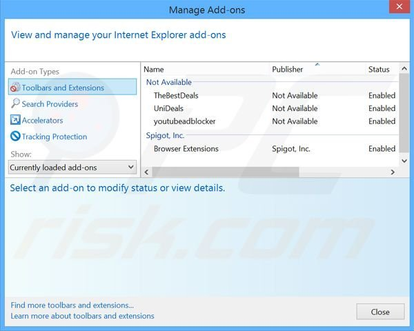 Rimuovere Safer Browser adware da Internet Explorer step 2