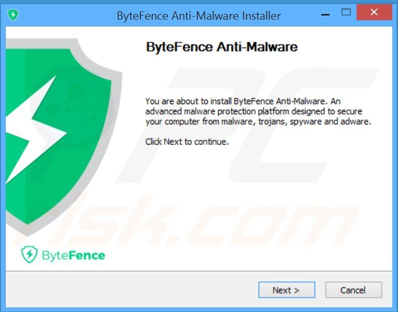 ByteFence application installation setup