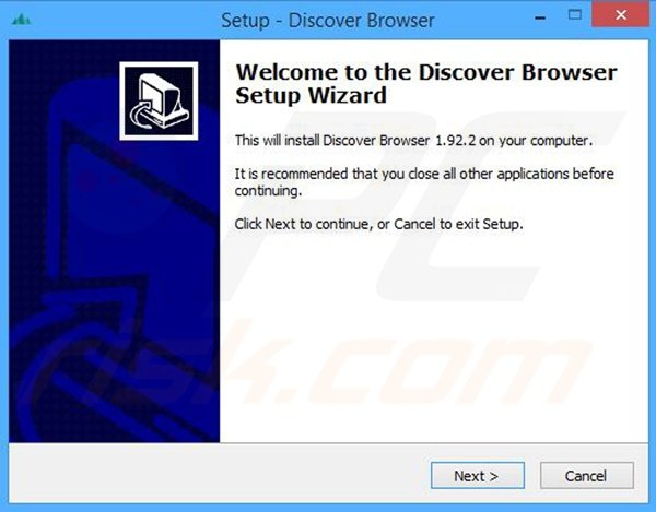 WebDiscover installer set-up