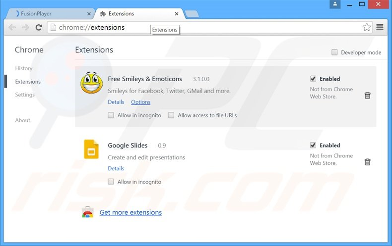 Rimuovere Wander Burst adware da Google Chrome step 2