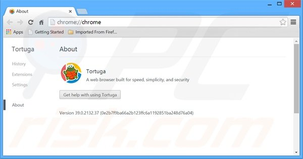 Deceptive Tortuga Internet browser