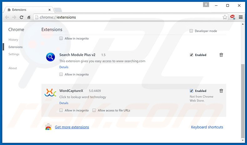 Rimuovere Chedot Browser adware da Google Chrome step 2