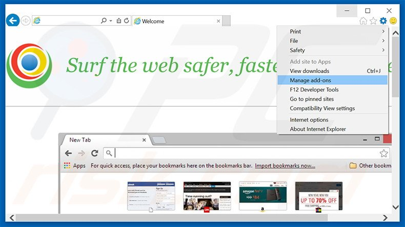 Rimuovere MyBrowser adware da Internet Explorer step 1