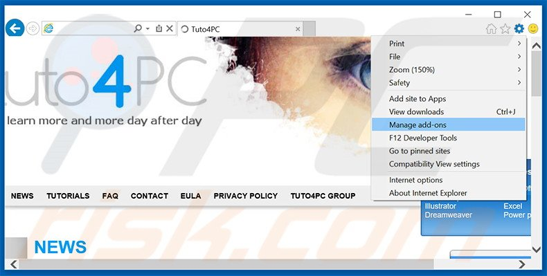 Rimuovere eFast Browser adware da Internet Explorer step 1
