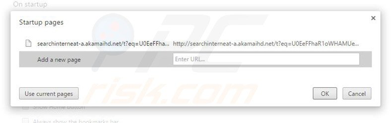 Cambia la tua homepage searchinterneat-a.akamaihd.net in Google Chrome