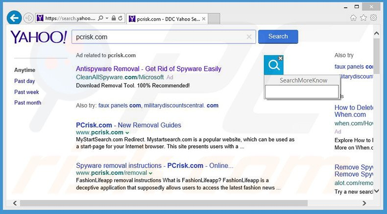 Browser redirects caused by Search Know adware
