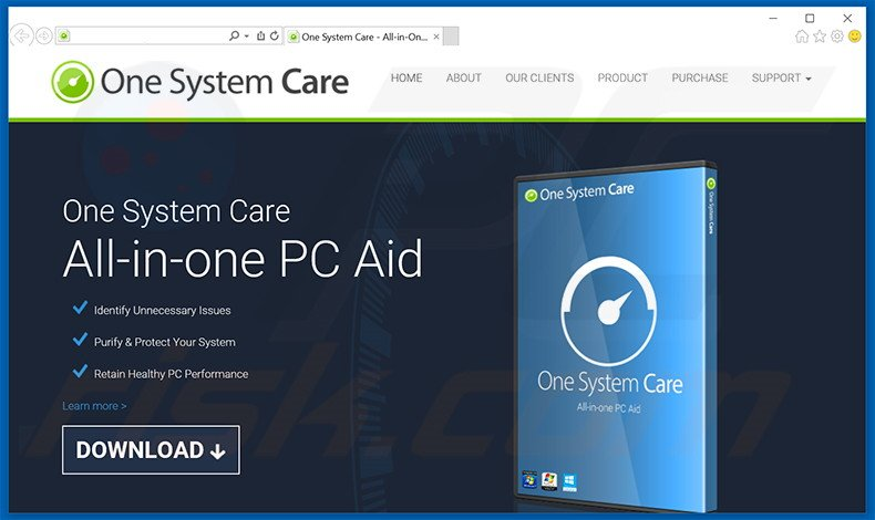 One System Care adware