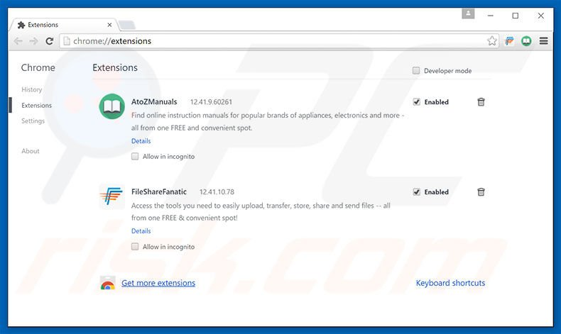 Rimuovere HDWallpaper adware da Google Chrome step 2