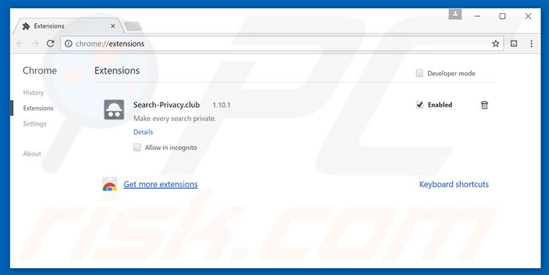 Rimuovere searchdisk.de da Google Chrome