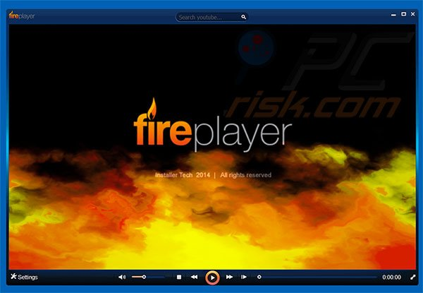 Screenshot of FirePlayer adware
