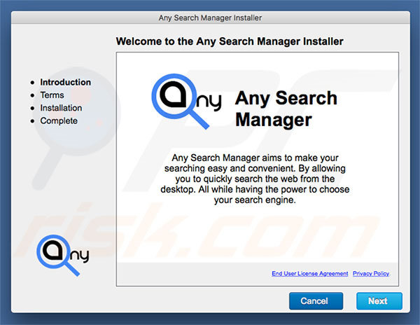 Delusive installer used to promote search.anysearch.net