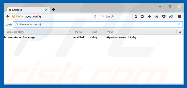 Removing chromesearch.today from Mozilla Firefox default search engine