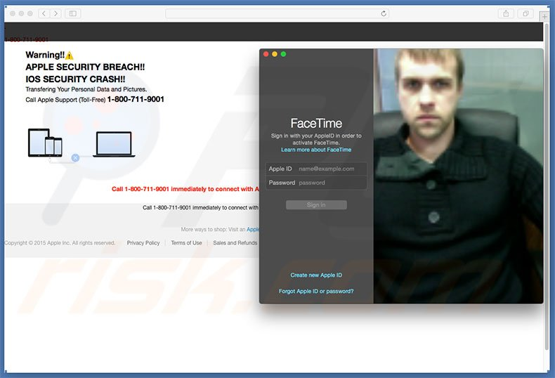 APPLE SECURITY BREACH opens facetime login