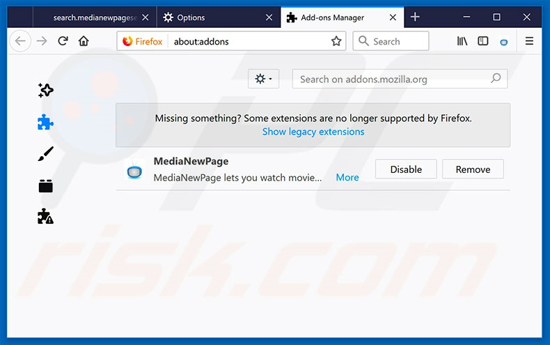 Removing go.paradiskus.com related Mozilla Firefox extensions