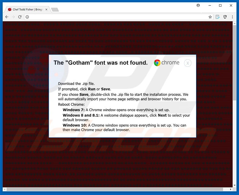 The Gotham Font Was Not Found Google Chrome Step 2