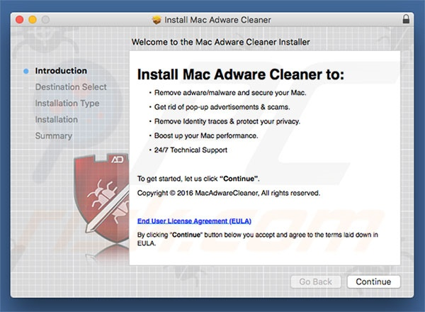 Delusive installer used to promote Mac Adware Cleaner