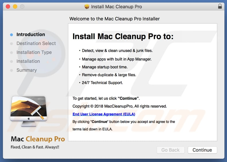Mac Cleanup Pro app installer