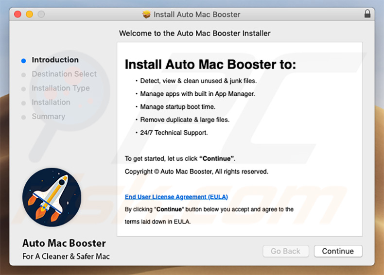 Auto Mac Booster installer setup