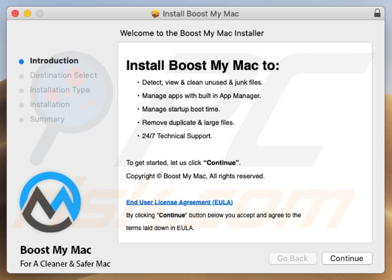 Boost My Mac installer