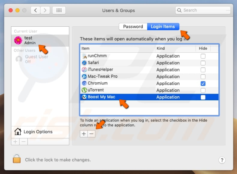 Boost My Mac PUA system preferences
