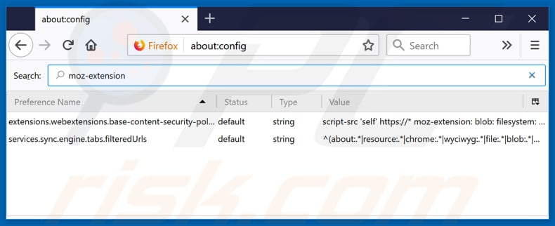Removing pavadinimas from Mozilla Firefox default search engine