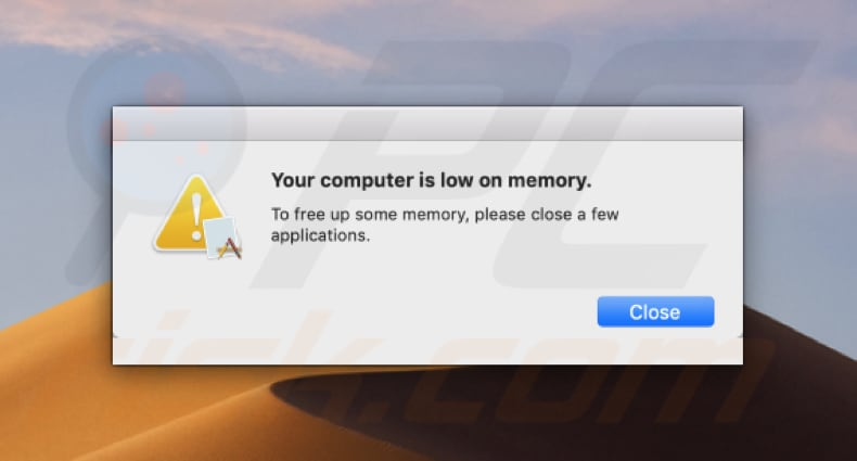 mac security plus displays fake system pop-up