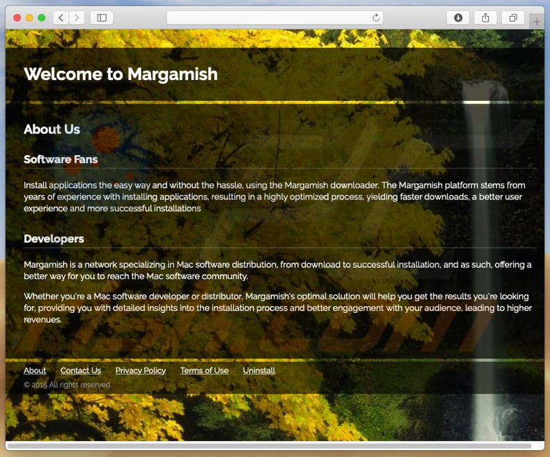 Dubious website used to promote search.margamish.com