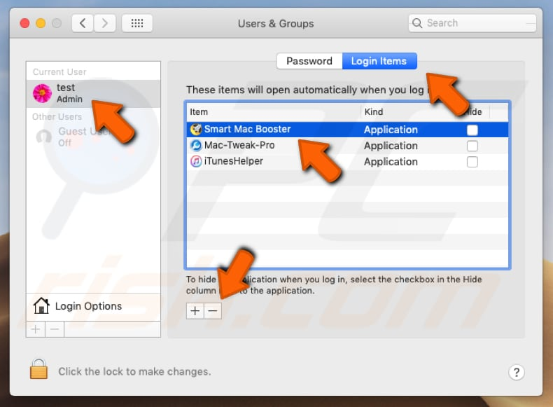 Smart Mac Booster PUA system preferences