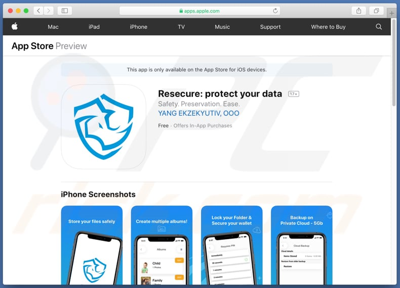 ReSecure app download website