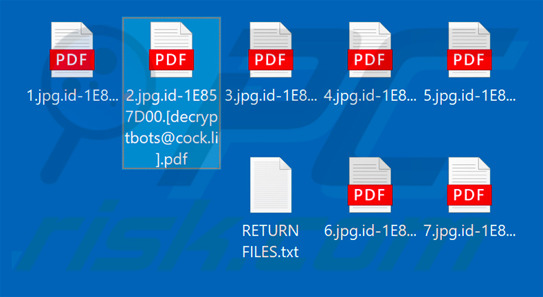 Files encrypted by .pdf