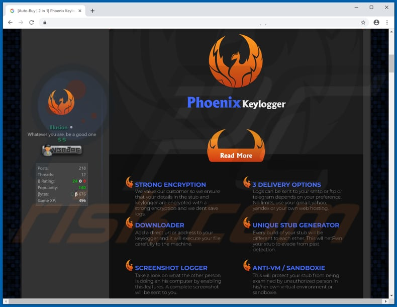 phoenix keylogger download website