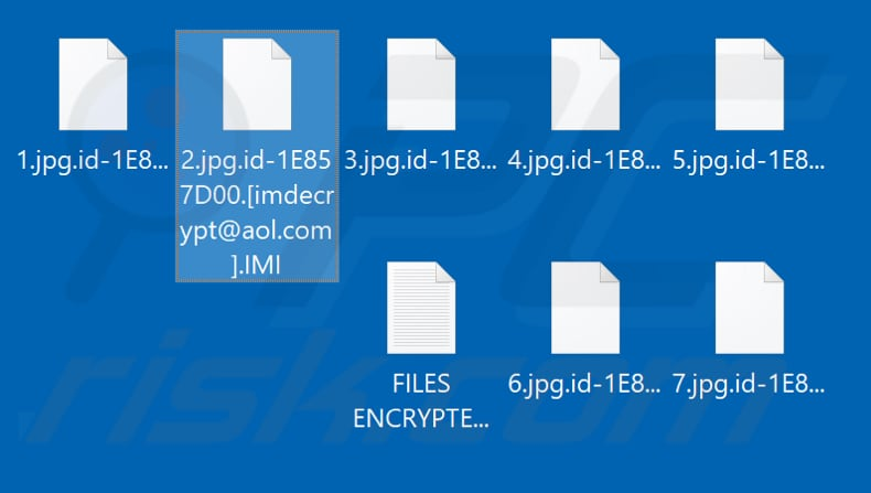 Files encrypted by IMI