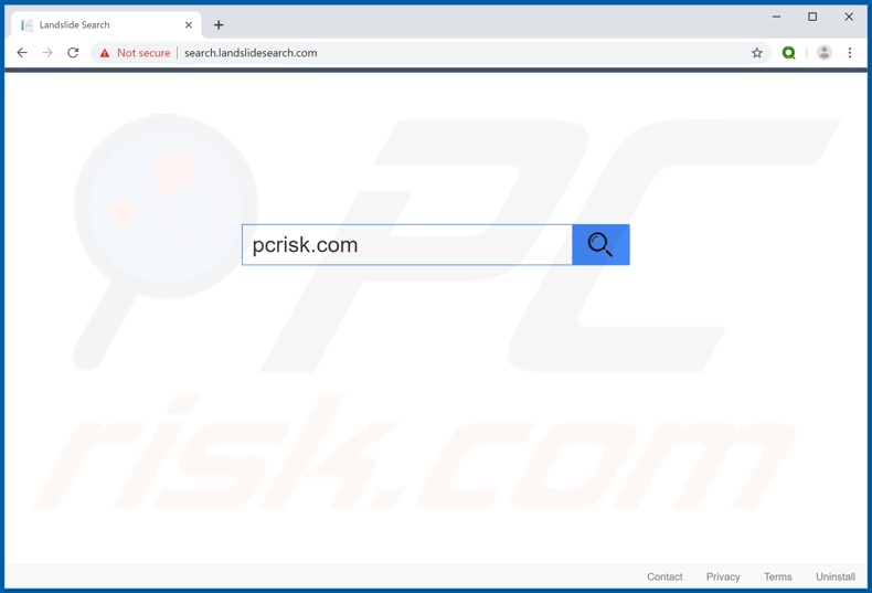 search.landslidesearch.com browser hijacker