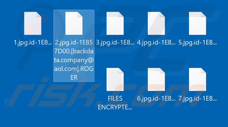 Files encrypted by ROGER