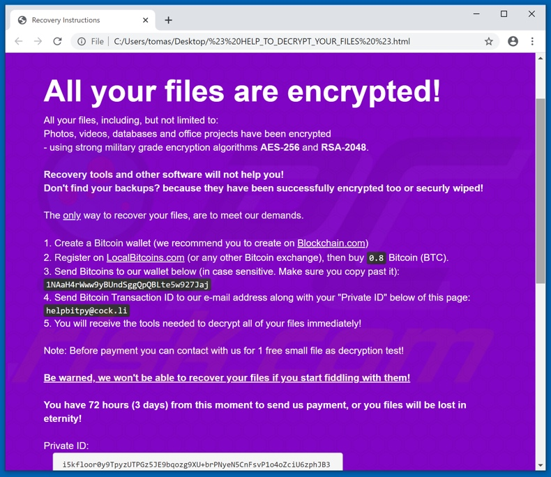 BitPyLock decrypt instructions (# HELP_TO_DECRYPT_YOUR_FILES #.html)
