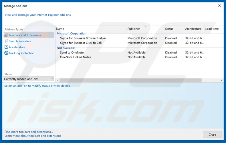 Removing streamsrch.com related Internet Explorer extensions