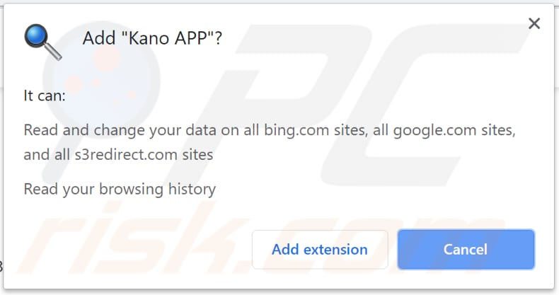 Kano APP asks for a permission to be installed