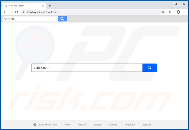 quicksearchtool.com browser hijacker