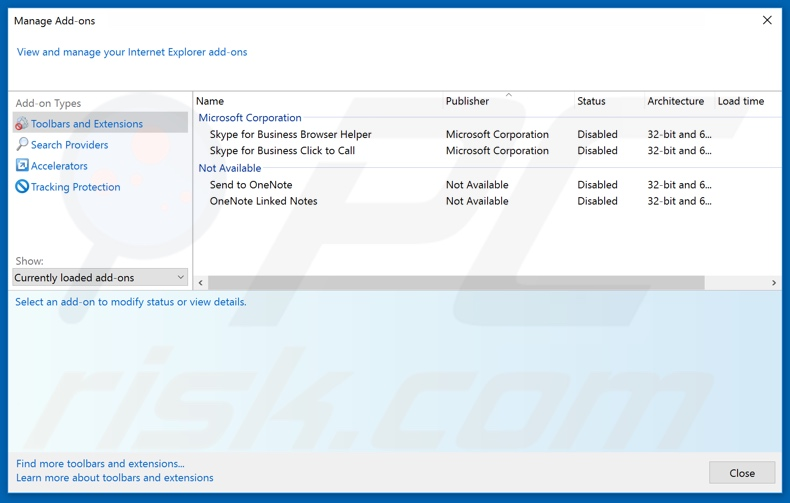 Removing removenotifications.com related Internet Explorer extensions
